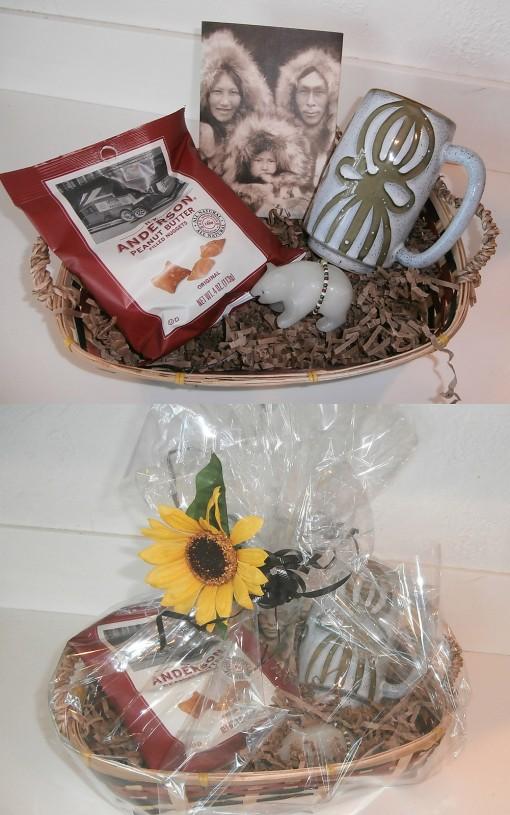 men's interest eskimo gift basket